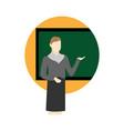 teacher lecture school cartoon graphic design vector image