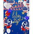 usa labor day greeting card with brush stroke vector image vector image