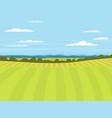 village landscapes farm house vector image