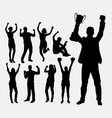 Winner people silhouettes vector image vector image