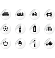 Stickers with English culture icons vector image