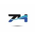 74th Year anniversary design logo vector image vector image