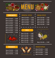 a menu with a special offer vector image