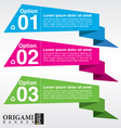 Abstract colorful origami banner EPS10 vector image