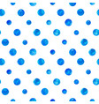 blue watercolor circles seamless pattern vector image vector image