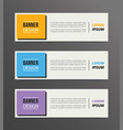 boxed or box style banner template design with vector image vector image