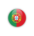 button portugal flag template design vector image vector image