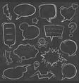 chalkboard comic speech bubbles vector image