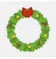 christmas wreath icon flat style vector image vector image