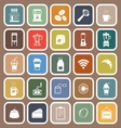 Coffee shop flat icons on brown background vector image vector image