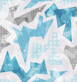 cold color geometric seamless pattern vector image