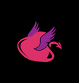 devil heart with wings vector image