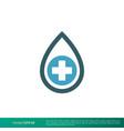 drop and cross medical healthcare icon logo vector image vector image