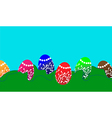 Easter background with Easter eggs vector image vector image