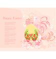Easter Egg On Grunge Background vector image vector image