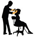Female hairdresser vector image vector image