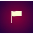 Flag icon Location marker symbol Flat design vector image