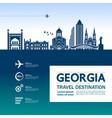 georgia travel destination vector image vector image