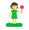 Girl Lollipop vector image vector image
