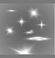 glow light effect star burst with sparkles vector image vector image