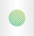 green eco globe ball icon vector image vector image