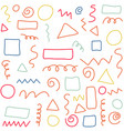 hand drawn geometric texture and pattern vector image