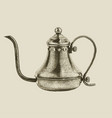 hand drawn vintage kettle vector image