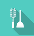 icon plunger with a long shadow vector image