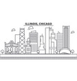 illinois chicago architecture line skyline vector image vector image