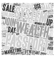In Days With Passport To Wealth text background vector image vector image