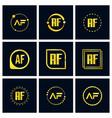 initial letter af logo set design vector image vector image