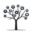 isolated family tree on white background vector image