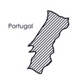 isolated portugal map design vector image