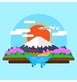 landscape of Mount Fuji vector image vector image