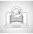 learn online book graduation cap vector image vector image
