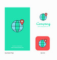 location on globe company logo app icon and vector image vector image