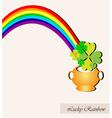 lucky rainbow vector image