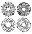 mandala boho pattern collection bohemian vector image