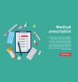 medical equipment prescription and supplies vector image vector image