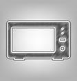 microwave sign pencil sketch vector image vector image