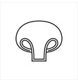 mushroom simple icon on white background vector image vector image