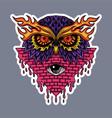 owl head stickers vector image vector image