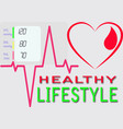 picture promoting a healthy lifestylex9 vector image