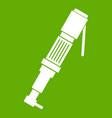 pneumatic screwdriver icon green vector image vector image