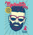 poster design movember vector image