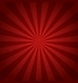 red color burst background or sun rays vector image vector image