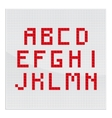 Red Mosaic Alphabet Part One vector image vector image
