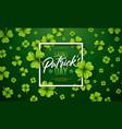 saint patricks day design with clover leaf vector image vector image