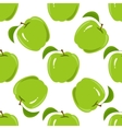 Seamless texture with a pattern of green apples vector image vector image