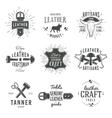 second set grey vintage craftsman logo vector image vector image